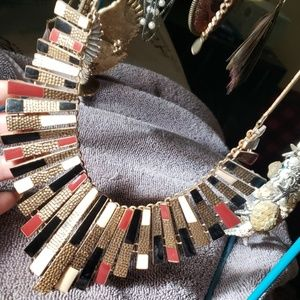 Gold statment necklace
